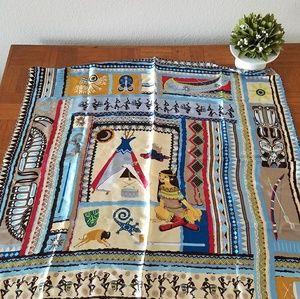 Baoshidi NEW Large Silk Scarf Native Print